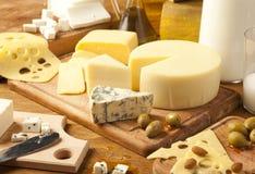 Productos lácteos Fotografía de archivo libre de regalías