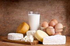 Productos lácteos Fotos de archivo libres de regalías