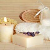 Productos naturales de Skincare del balneario Imagen de archivo