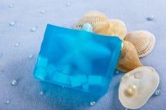 Productos naturales de Skincare del jabón imagen de archivo libre de regalías