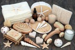 Productos naturales de Skincare y del balneario Fotografía de archivo libre de regalías