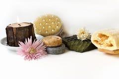 Productos naturales del baño Foto de archivo