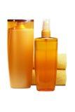 Productos naturales para el cuidado del cabello Imagenes de archivo