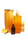 Productos naturales para el cuidado del cabello Imagen de archivo