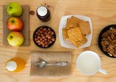 Productos naturales para el desayuno Fotos de archivo