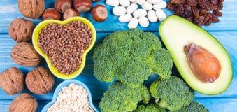 Productos naturales ricos en piridoxina de la vitamina B6 Concepto sano del alimento Fotografía de archivo libre de regalías