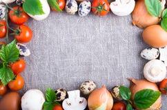 Productos orgánicos de la granja Fotografía de archivo