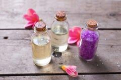 Productos orgánicos de los cosméticos Foto de archivo