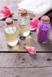 Productos orgánicos de los cosméticos Fotos de archivo libres de regalías