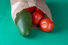 Productos orgánicos de los granjeros Menos plástico fotos de archivo