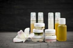 Productos para el cuidado de la piel Fotos de archivo