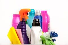Productos químicos de hogar Foto de archivo libre de regalías