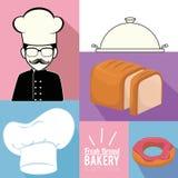 Productos siempre frescos de la panadería Fotografía de archivo