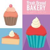 Productos siempre frescos de la panadería Imagenes de archivo