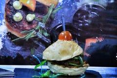 Productos superiores en la feria gastronómica de Alicante imagenes de archivo