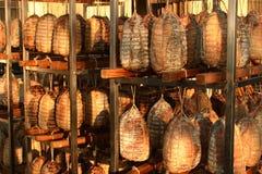 Productos típicos de los cortes fríos del italiano Foto de archivo libre de regalías