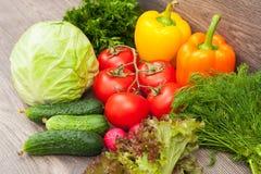 Productos a una dieta vegetariana Fotos de archivo libres de regalías