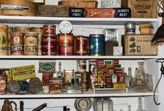 Productos viejos en museo en el cloruro New México Foto de archivo