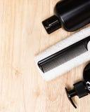 Productos y accesorios de belleza para los hombres Imagen de archivo