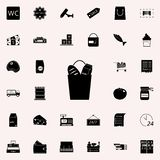 Products in a bag icon. market icons universal set for web and mobile. On colored background royalty free illustration