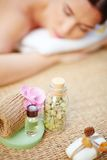 Products for body treatment Stock Images