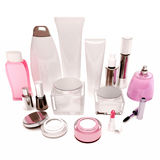 Products of care of skin, hair, decorative cosmetics on white ba. Products of care of skin, hair, decorative cosmetics onwhite background Royalty Free Stock Image
