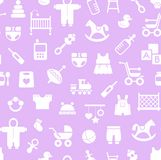 Products for children, background, seamless, Magenta. Stock Photography
