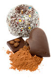 Products of cocoa and chocolate Stock Photos