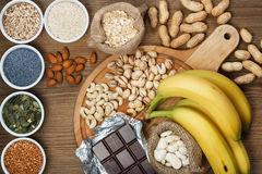 Products containing magnesium Stock Photos