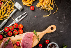Products for cooking dinner Stock Image