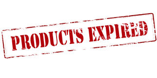 Products expired. Rubber stamp with text products expired inside,  illustration Royalty Free Stock Photography