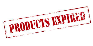 Products expired. Rubber stamp with text products expired inside,  illustration Stock Image