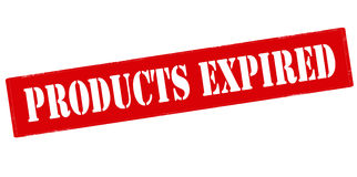 Products expired. Rubber stamp with text products expired inside, vector illustration Stock Image