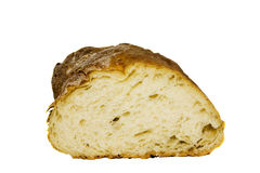 Products of a feed. The cut half-and-half white soft bread made of a wheaten flour Stock Image