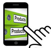 Products Folders Displays Goods And Merchandise For Sale Royalty Free Stock Photo