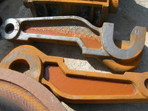 Products of foundry manufacture. In summer Royalty Free Stock Photo