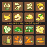 Products for homemade facial mask Stock Photos