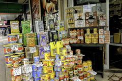 Products from Italy, Arthur Avenue, Bronx royalty free stock photography