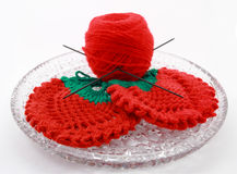Products made spoke for knitting Stock Photo