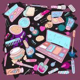 Products for make up and beauty Royalty Free Stock Image