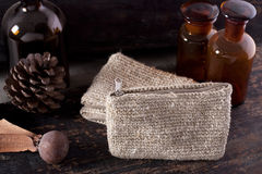 Products of natural fiber. Stock Image