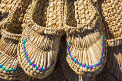 Free Products Of National Crafts, Braided Sandals Stock Photos - 46007323
