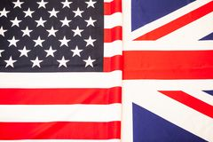 Products partnership of the United States and Great Britain. Two. Of the flag States to develop Stock Photography