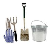 Products for the people enjoying garden work Stock Photos