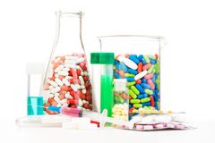 Products of pharmaceutical company Stock Images