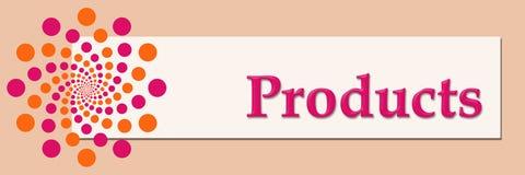 Products Pink Orange White Horizontal Stock Image