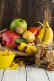 Products rich of complex carbohydrates Stock Image