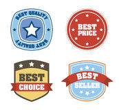 Products seals. Over white background vector illustration royalty free illustration