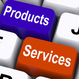 Products Services Keys Show Company Goods Stock Photos