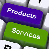 Products And Services Keys Show Selling And Buying Online Stock Photography
